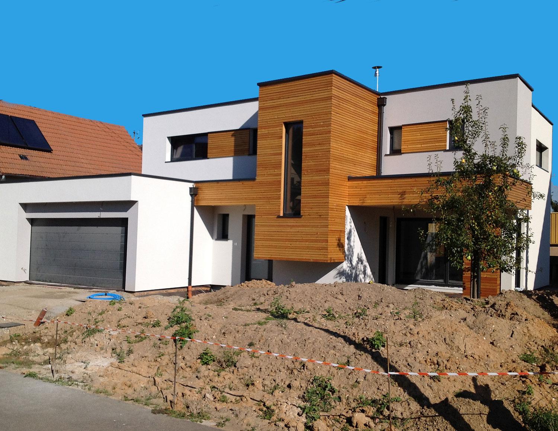 Maison bois énergie positive Haut-Rhin